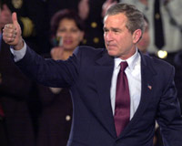Pres Bush thumbs up